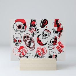 skull party Mini Art Print