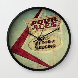 Four Aces Motel Wall Clock