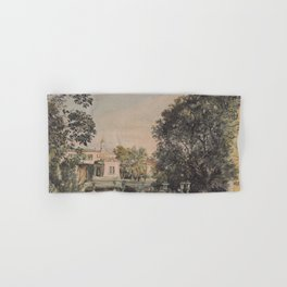 The Imperial Palace Livadia In The Crimea 1863 by Rudolf von Alt | Reproduction Hand & Bath Towel
