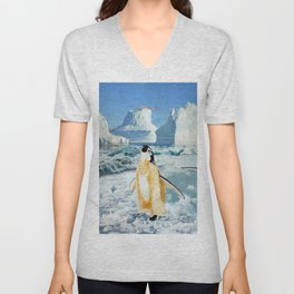 Penguin Chick In The Arctic Unisex V-Neck