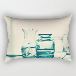 Crystal jars and bottles (Retro and Vintage Still Life Photography) Rectangular Pillow