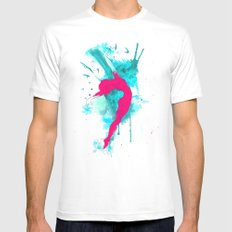 Ballerina and seagulls White MEDIUM Mens Fitted Tee