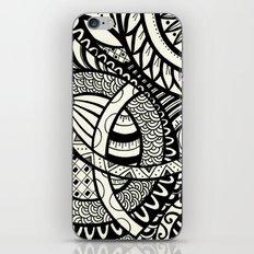 Zentangle design iPhone & iPod Skin