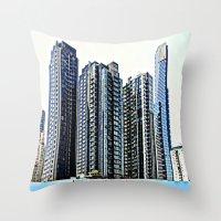 melbourne Throw Pillows featuring Melbourne CBD by Chris' Landscape Images & Designs