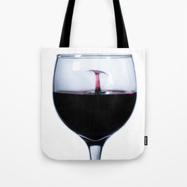 A Splash of Red Wine Tote Bag