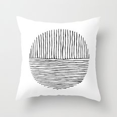 Circle : Vertical / Horizontal Throw Pillow