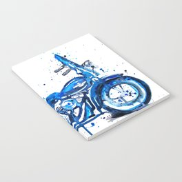 Blue Motorcycle Notebook