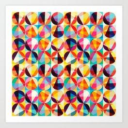 POP Circles Art Print