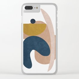 Blue and Yelow Shapes II Clear iPhone Case