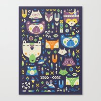 wild things Canvas Prints featuring Wild Things by Paula McGloin Studio