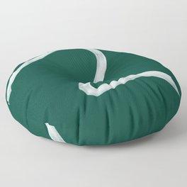 Kinda Wave in Emerald Floor Pillow