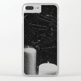 let the old flames die Clear iPhone Case