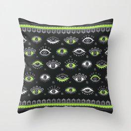 Eye Spy Charcoal Throw Pillow