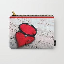 Our Tune - A heart Shaped Shadow on Sheet Music Carry-All Pouch