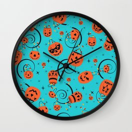 Halloween Magic- Turquoise Wall Clock