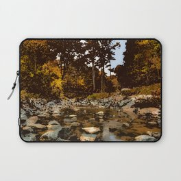 Serene small pond by the woods painting nature forest peaceful camping wilderness hiking landscape Laptop Sleeve
