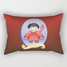 Scorpio Child Zodiac Sign Illustration Rectangular Pillow