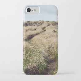 Oregon Dune Grass Adventure - Nature Photography iPhone Case