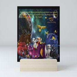 Dragonlings Space Party Mini Art Print