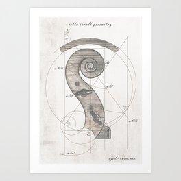 musical geometr.eye Art Print