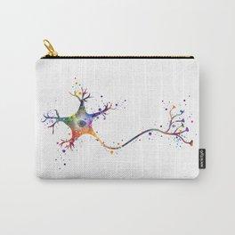Neuron Art Brain Cell Biology Art Watercolor Neurology Medical Science Art Biology Gift Carry-All Pouch