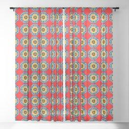 Persian Flowers Pattern V.1 Sheer Curtain
