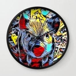 Color Kick -Piglet Wall Clock