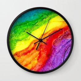 Color Flow #2 Wall Clock