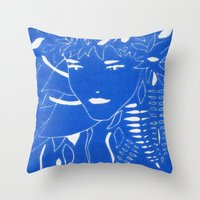 fern Throw Pillows featuring FERN by Andrea Jean Clausen - andreajeanco