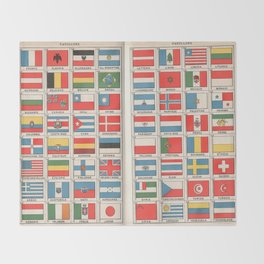 Vintage flags 1935 Throw Blanket