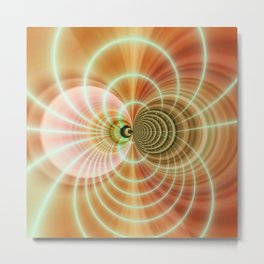 Fractal orange Metal Print