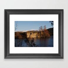Castle on the island Framed Art Print