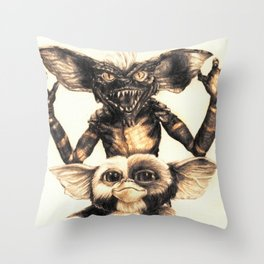 Gizmo by Aaron Bir Throw Pillow