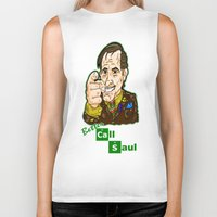 better call saul Biker Tanks featuring Better Call Saul...  Attorney Saul Goodman from Breaking Bad  by beetoons