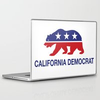 political Laptop & iPad Skins featuring California Political Democrat Bear by Democrat