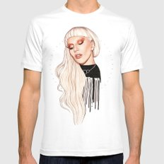 LG x AW White MEDIUM Mens Fitted Tee
