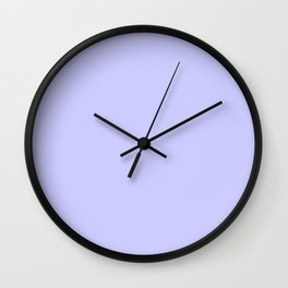 Lavender Blue - solid color Wall Clock