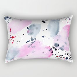 Indigo love || watercolor Rectangular Pillow