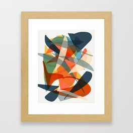 Abstract Fish Framed Art Print