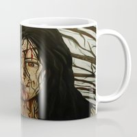 evil dead Mugs featuring Evil Dead by Lydia Dick