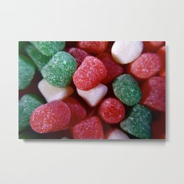 Christmas Spice Drop Candy Metal Print
