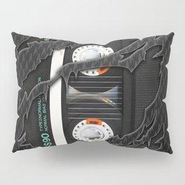 Black Retro Cassette tape Pillow Sham