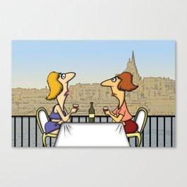 Cafe Tigne Canvas Print