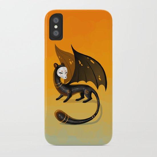 Black Stoat iPhone Case