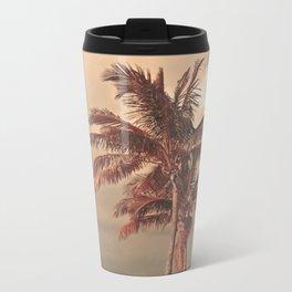 Retro Palm Tree Metal Travel Mug