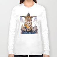 cincinnati Long Sleeve T-shirts featuring Cincinnati Bengal Tiger by The Groundbird