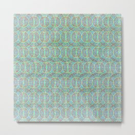 Colorful Geometric Pattern XI Metal Print
