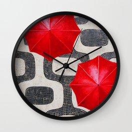 Ipanema Umbrella Wall Clock
