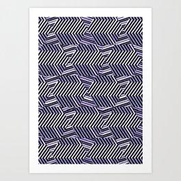 Hypnotic Trance Ultra Violet Art Print