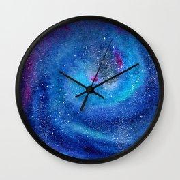 Galaxy || watercolor Wall Clock